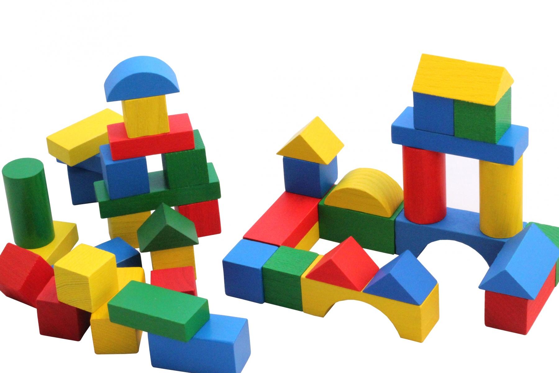 Cubes de construction en bois multicolores 27 mm - Jeu de cube comme minecraft ...